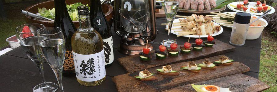 Tasty sake & appetizers </br>「屋外での食事を楽しむキャンプ飯」更新!